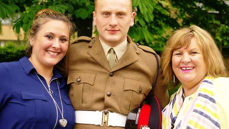 Daniel with Mum Marguerita and sister Lorretta at the ceremony