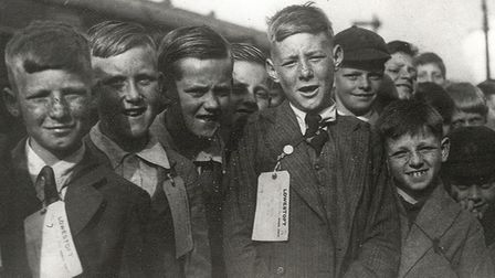 The Notley Road Senior Boys who left Lowestoft Rail Station on June 2, 1940. Picture: Imperial War M