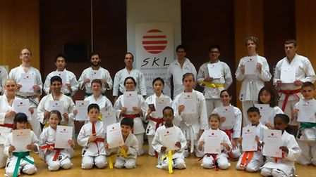 Shotokan Karate London students recorded a 100 per cent pass rate with their gradings