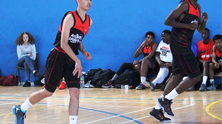 Access2Sports U16 players Jason Prince (left) and Rio Murray-Webster in action
