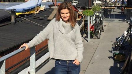 Family album... Jo Cox photographed recently by husband Brendan on board their houseboat at Wapping