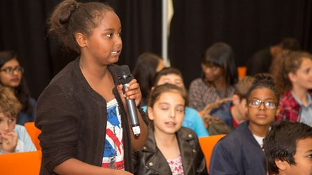 Pupils from Chalkhill Primary School in Wembley attended the Stories of Brent film premiere in Brent