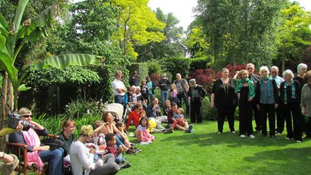 Chris and Miranda Mason's charitable Open Garden event at their home in Walm Lane in May was a huge