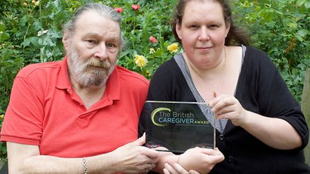 Anne Couzens, 37, has been recognised for the care she gives for father Barry, 69. Picture: Elliott