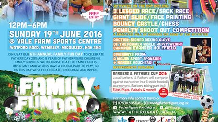 The Family Funday is taking place on sunday