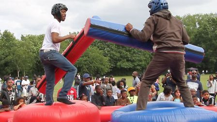 Activities included a gladiator game (Pic credit: Alphonso Grose)