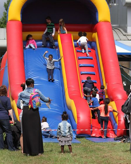 The big slide was a hit at the event (Pic credit: Alphonso Grose)