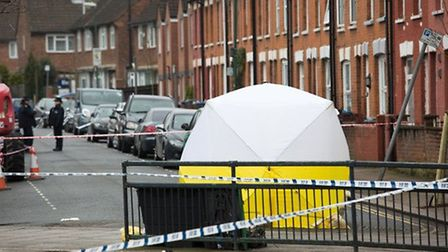 The murder scene in Church Road (Pic: Jonathan Goldberg)