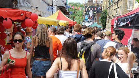 Crowds at the Whitecross Street Party two years ago. The population of Islington is set to rocket by