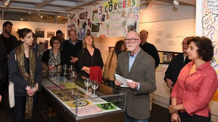 Speakers at the launch of an exhibition celebrating half a century of adventure play in Islington