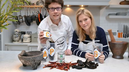 Nick Carter and Nicola Lando of Sous Chef in their kitchen