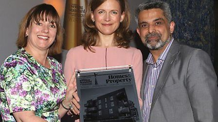 Vicky Savage, from Networks Homes with Cllr Muhammed Butt, Leader Brent Council collecting the best