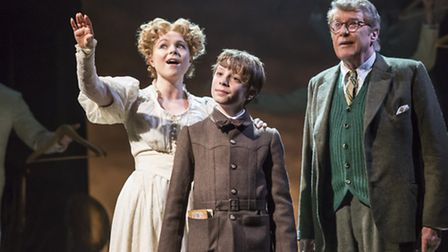 Gemma Sutton, William Thompson and Michael Crawford in The Go Between. Credit: Johan Persson