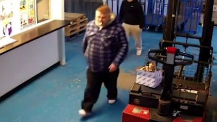 CCTV footage shows the two suspects leaving with the steam cleaner