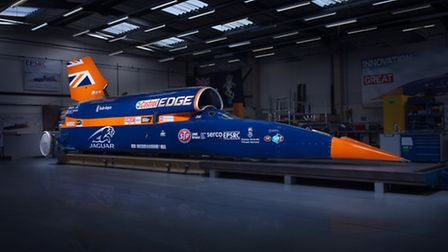The Bloodhound, which will attempt to break the land speed record next year