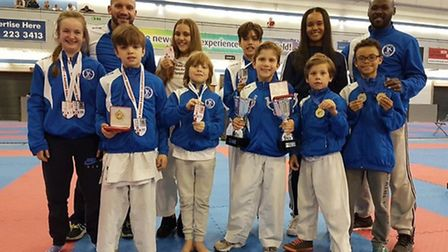 The Veras Academy medal winners on day one of the BKF Four Nations Championship in Sheffield