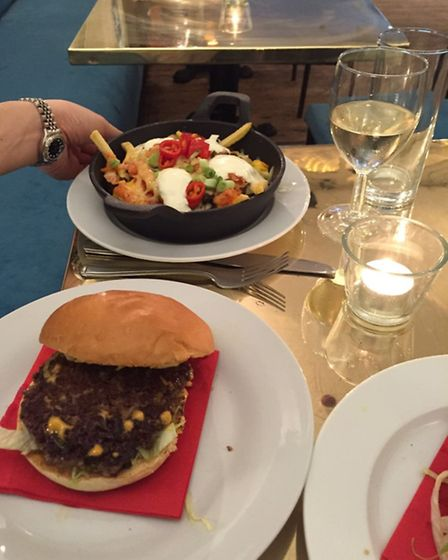 Busan Burger and K-Fries at Dead Doll's House. Picture: Carline Cheng