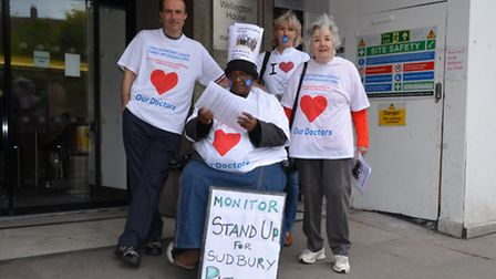 Paul Lorber, Gaynor Lloyd, Grace Balogun and Audrey Wade took their 3,700 strong petition to the NH