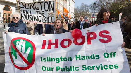 Islington marches against the governments Housing Act Picture: Vickie Flores