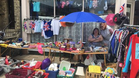 Claire Ringer, volunteer at Alfie's Community ARK, trading outside the store on London Road South, L