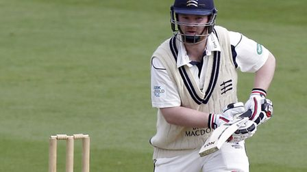 Paul Stirling in four-day action for Middlesex. Pic: Nick Wood/TGS Photo