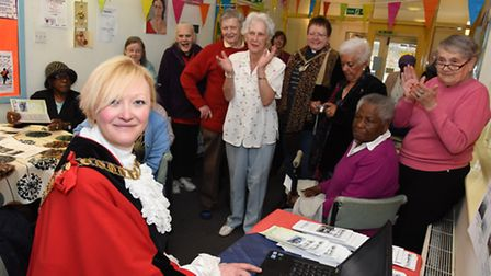 Mayor of Islington Kat Fletcher launches a fundraising appeal for a minibus at Sotheby Mews Day Cent