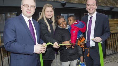 James Murray, right, pictured in December at the opening of new affordable homes in Parkhurst Road,