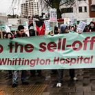Defend the Whittington Hospital Colaition staging a protest.