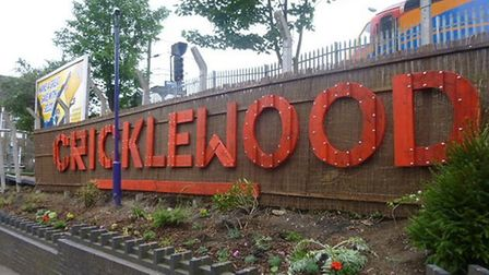The new artwork outside Cricklewood station
