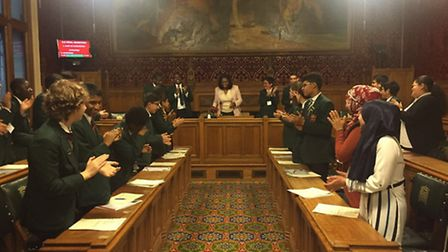 The Newman Catholic College Student Council were invited by Dawn Butler MP to hold their meeting in