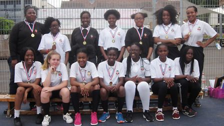 The victorious Mount Carmel Catholic College for Girls rounders team