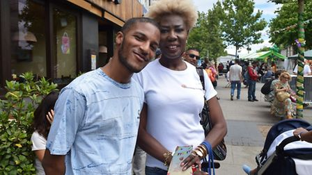 Actor Samuell Benta opened the Heart of Wembley festival, here with Osita Udenson, who helped Wemble