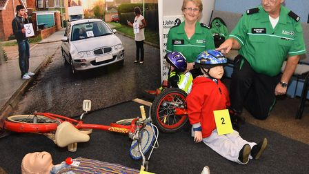 A scene from the 2019 Crucial Crew event in Lowestoft as St John Ambulance demonstrate . Picture: Mi