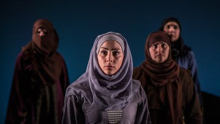 Queens of Syria at the Young Vic. Picture: Vanja Karas