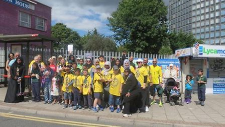 More than 60 people met at Stonebridge Park Station to take part in the Brent Walk for Change organi