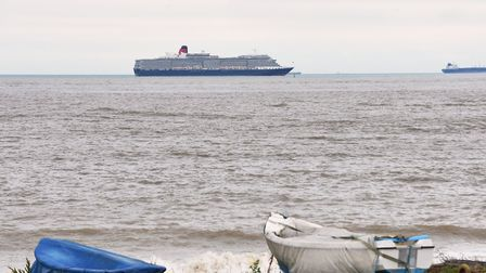 The Queen Victoria, a cruise ship operated by Cunard Line, docked off Lowestoft on Saturday (July 4)