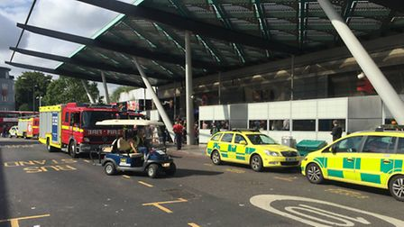 Police and ambulance staff outside Finsbury Park station on Tuesday morning (Picture: Sam Gelder)