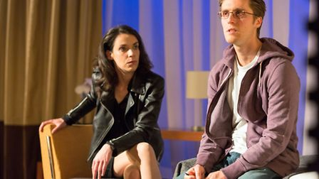 Caoilfhionn Dunne (Woman) and Jack Farthing (Andrew) in Wild at Hampstead Theatre. Picture: Stephen