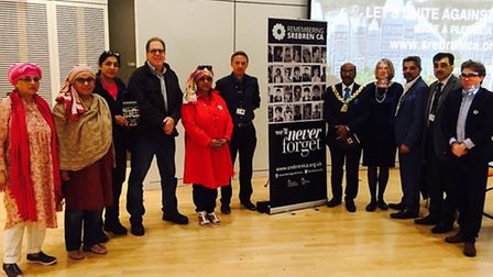 A memorial event in Wembley in remembrance of the genocide in Srebrenica, Bosnia