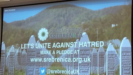The charity event remembered victims of genocide in Srebrenica, Bosnia