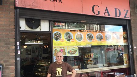 Hussein Jaber fears he will have to close his cafe Gadz, which has been there for 15 years