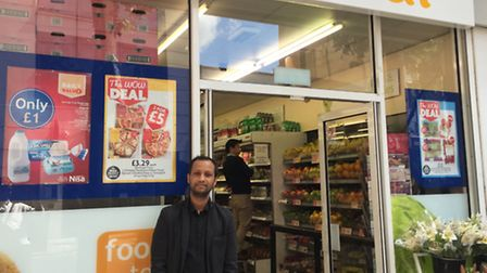 Imran Chanchala outside the Nisa Local in Clifton Terrace