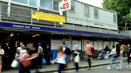 The Wells Terrace entrance to Finsbury Park station will be closed permanently from Monday. (Picture