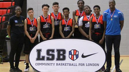 Islington side Access2Sports Under-16s, who won the Community Basketball League play-off final