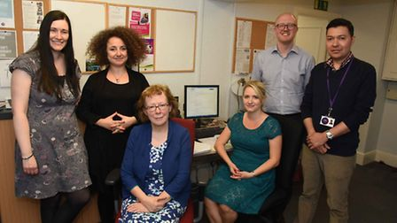 The St Luke's Community Centre job club, which helps people get back into the workplace. From left: