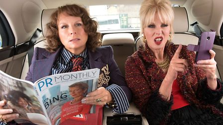 Jennifer Saunders and Joanna Lumley star in Absolutely Fabulous: The Movie. Picture: David Appleby