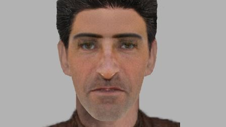 Police have released this e-fit of the man wanted over an attempted rape of a schoolgirl in Highbury
