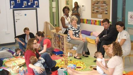 MP Andy Burnham visited the New River Green Childrens Centre, in Ramsey Walk in 2013