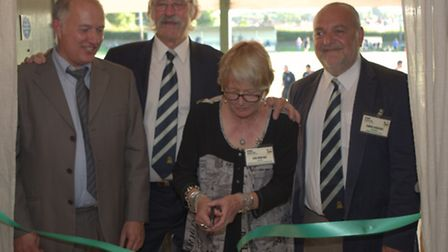 Robert Morris, David Bedford OBE, Ann John OBE and Simon Lawrence at the official opening of Hendon'