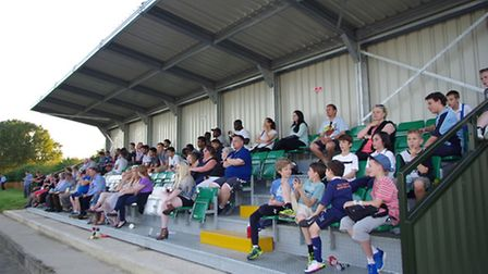 Fans watch inside one of the new stands at Silver Jubilee Park (Pic: DBeechPhotography).